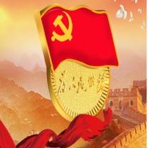 国产 党徽标准型双面磁铁党徽24*22.5*2mm
