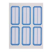 晨光 M&G 自粘性标签 YT-10 6枚*10 49*23mm (蓝色) 10张/包 (二等分)