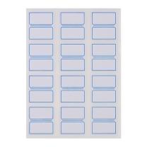 晨光 M&G 自粘性标签 YT-17 12枚*10 27*24mm (蓝色) 10张/包 (二格)