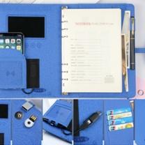 国产办公套装 A5  A5内置笔记本+U盘+移动电源+签字笔 精装盒装+金属签字笔+手提袋 含印刷最低起订量300本起订