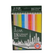 中华 Chung Hwa 18色彩色铅笔 6300  18支/盒 (新老包装替换中)