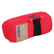晨光 M&G 简约多功能学生大容量文具袋 APB93599 200*50*85mm (红色)