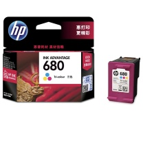 惠普 HP 墨盒 F6V26AA 680号 (彩色)