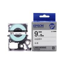 爱普生 EPSON 标签机色带 LK-3WBN 9mm (白底/黑字)