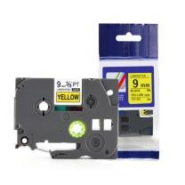 天色 标签机色带 TZ-621 9mm黄底黑字 适用于兄弟标签机