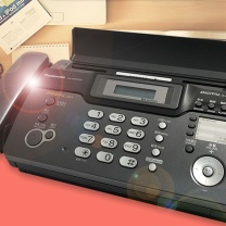 松下 Panasonic 传真机 KX-FC973CN (黑色) 热敏纸电话传真机 保密录音传真机 办公家用复印