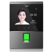 得力 deli 人脸指纹考勤机 D3  Wifi联网 自助报表操作简单