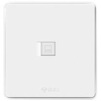 公牛 BULL 网线面板 G18T102  开关插座 G18系列 一位电脑插座 86型电脑宽带单网络面板 纹理白 暗装