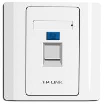 普联 TP-LINK 信息模块面板 TL-EF001  单口信息面板 86型工程级电脑光纤宽带网线网络墙壁插座开关空板