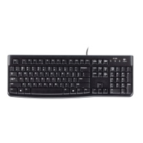 罗技 Logitech 有线键盘 K120 (黑色)