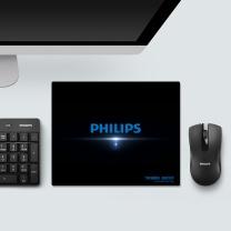 飞利浦 PHILIPS 鼠标垫  PHILIPS 办公 游戏 家用 鼠标垫 黑色
