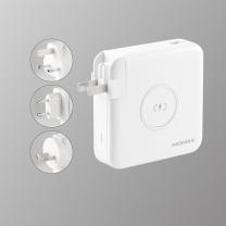 摩米士 MOMAX 移动电源  充电宝充电器全球充三合一无线快充PD快充 移动电源手机平板通用 旅行电源自带线 套装版【白色】