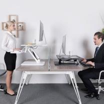 乐歌 站立办公桌显示器电脑桌 M3S (黑)