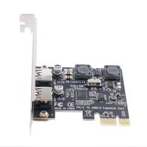 奥睿科 ORICO USB扩展卡 PNU-2U PCI-E转USB3.0 双口扩展卡台式机主机箱电脑内置高速前置转接卡