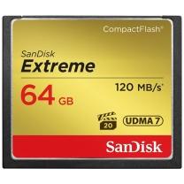闪迪 SanDisk CF存储卡 UDMA7 64GB 至尊极速版 读速120MB/s 写速85MB/s