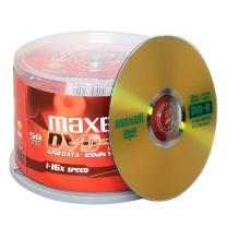 麦克赛尔 maxell 光盘 DVD-R 4.7G 16x 空白光盘 商务金盘50片/筒