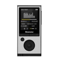 纽曼 Newsmy MP3/MP4 A68 金属外放 运动 无损音乐播放器有屏迷你学生随身听录音笔 8G 银色