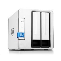 铁威马 私有云存储服务器 F2-220 intel双核 2.4G 2G内存 双盘NAS千兆网络存储