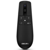 得力(deli)空中飞鼠 可充电激光翻页笔 PPT无线演示器 机顶盒鼠标遥控器 红光2803  (JH)