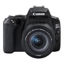 佳能 Canon 迷你单反 EOS 200D II EF-S18-55mm f/4-5.6 IS STM (黑色)