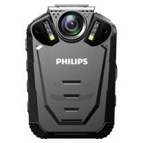 飞利浦 PHILIPS 便携音视频执法记录仪1296P高清红外广角夜视摄像机 录音 拍照一体机 VTR8210 64G