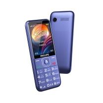 老人手机 飞利浦 PHILIPS E258S 宝石蓝 直板按键 移动/联通2G 老人手机 老年功能手机