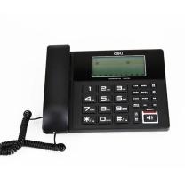 得力 deli 大屏幕录音留言座机 固定电话机 799 (黑色)