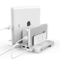 大黄蜂 多口usb充电站通用手机充电器USB正反插2.4A快速充电自带可调收纳支架 D-2187B