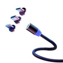 斯泰克 stiger 磁吸流光数据线发光快充线三合一自吸头苹果安卓华为type-c手机车载一拖三口充电磁吸数据线