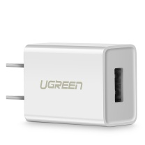 绿联 UGREEN 充电器 通用苹果iphoneXs Max/XR/X/8/8Plus/7/6/se安卓手机 USB数据线插头 5V/1A快速电源适配器 50714