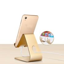 手机支架 技光(JEARLAKON)JK-D03 懒人手机支架桌面平板电脑iPad支架 苹果通用铝合金手机直播架充电底座 香槟金款