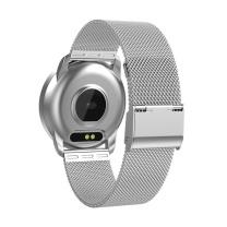 恩谷 彩屏血压心率智能手环-商务金属表带 EG-T12