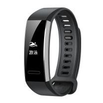 华为 HUAWEI GPS版 50米防水游泳 独立GPS 呼吸训练 24小时心率监测 科学睡眠 专业运动 运动手环 GPS版 (黑色)