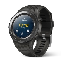 华为 HUAWEI 第二代智能运动手表蓝牙版 蓝牙通话 GPS心率FIRSTBEAT运动指导 NFC支付 WATCH 2 蓝牙版 (碳晶黑)