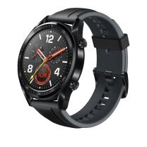 华为 HUAWEI HUAWEI WATCH手表 (两周续航+户外运动手表+实时心率+高清彩屏+睡眠/压力监测+NFC支付) GT运动版 (黑色)