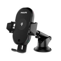 车载手机支架 飞利浦(PHILIPS)车载无线充电器手机支架 红外感应全自动支架 QI无线快充 苹果iPhoneX/8三星等 DLK9411N