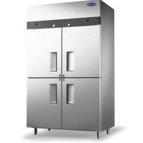 银都 冰柜 SMBG004 1200*700*1950mm 800L (银色) 不锈钢商用四门冰柜 全冷冻立式冰柜 对开门 不锈钢冷冻柜 饭店酒店冷柜