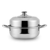 易铂 卡普尔汤蒸锅 YP-8035 (颜色随机) 加厚锅底