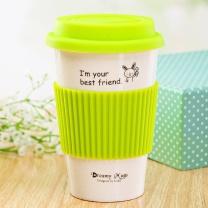 瓷魂 创意陶瓷杯马克杯 350ml (绿色、黄色、红色、黑色)