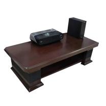 吉展 电视柜 2米 (木色) 实木简约茶几电视机柜伸缩