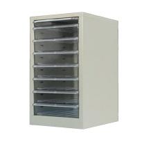 百雪 小型柜子 74*28*34cm (银色) 铁皮多层收纳柜