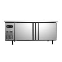银都 工作台 BXGZT188 1800*800*800mm (银色) 冷藏保鲜工作台 商用设备全套水吧台不锈钢操作台冷冻柜商用冰柜 标准款直冷冷冻平调