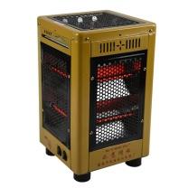 如意明珠 大五面红管烧烤取暖器 S-16-A 家用电热烘烤器具 27*27*46cm (金色)