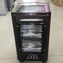 如意明珠 大五面烧烤取暖器 家用电热烘烤器具 27*27*42cm (黑色)