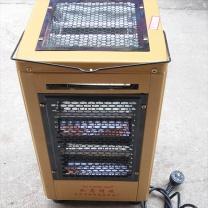 如意明珠 大五面红管烧烤取暖器 S-10-A 家用电热烘烤器具 27*27*42cm (黄色)