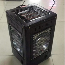 如意明珠 大五面太阳烧烤取暖器 家用电热烘烤器具 27*27*42cm (黑色)