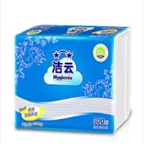 洁云 Hygienix 300张卫生纸 厕用纸抽纸 平板卫生纸 300张/包