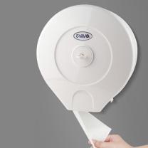 瑞沃 挂壁洗手间大手纸盒 V-610 280*270*125mm (白色) 12卷/箱