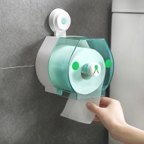 顺美 免打孔壁挂式塑料纸架 SM-1613 (白绿) 24个/箱