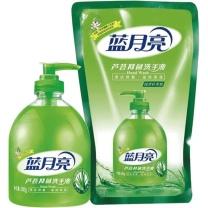 蓝月亮 bluemoon 芦荟洗手液两件套 500g+500g  6套/箱 (瓶装+袋装)